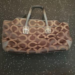 Coach Signature Brown handbag 👜